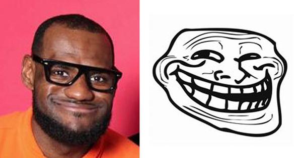 LeBron James, jogador de basquete do Miami Heat, vira meme na Internet (Foto: Reprodução)