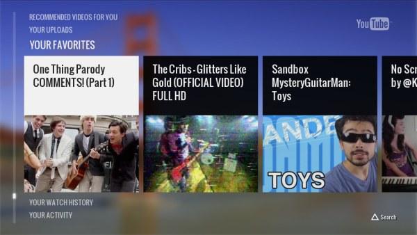 Novo YouTube para PS3 tem mais opções e controle por celular (Foto: Reprodução)