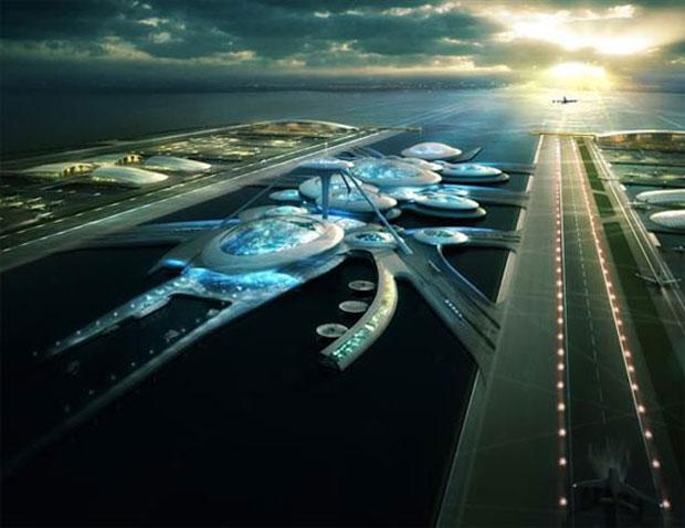 Projeto bilionário seria uma opção para resolver as limitações do antigo aeroporto londrino (Foto: Divulgação)