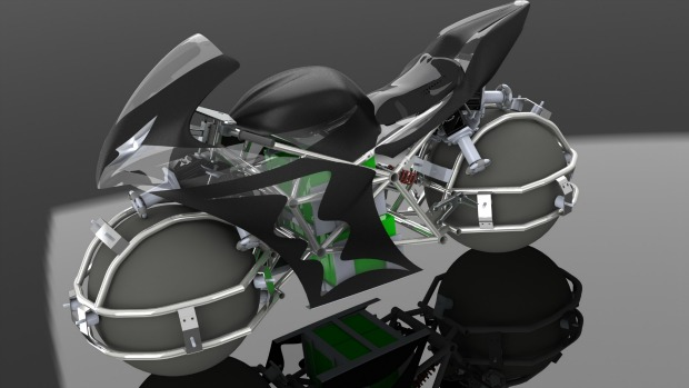 Projeto conceitual mostra possível layout da moto (Foto: Divulgação)