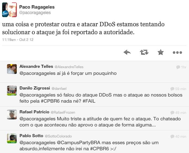 Paco Ragageles lamenta o ataque em seu perfil no Twitter (Foto: Reprodução/Twitter)