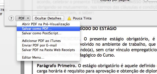 Salvando como PDF (Foto: Reprodução/Helito Bijora)