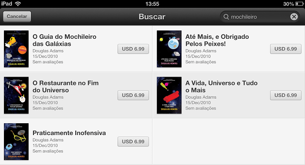 Livros escritos em nossa lingua já estão na iBookstore (Foto: Reprodução/Edivaldo Brito)