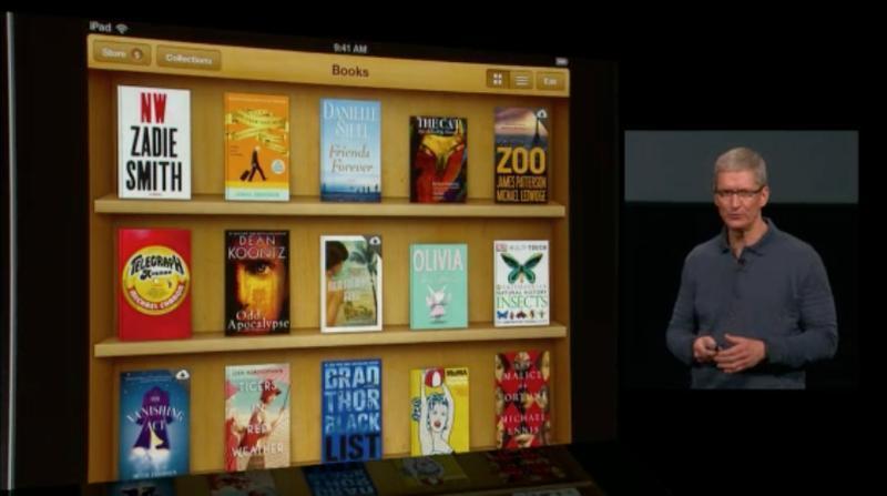 iBooks 3 tem interação com iCloud e redes sociais como Facebook e Twitter (Foto: Reprodução)