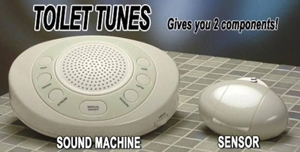 Toilet Tunes é um dispositivo que toca música enquanto usamos o toalete (Foto: Reprodução/Mashable)