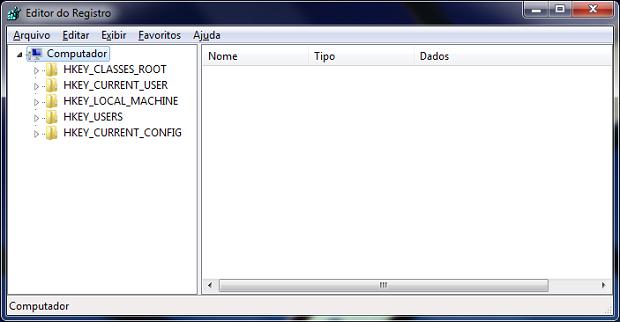 Acessando o Editor de Registro (Foto: Reprodução)