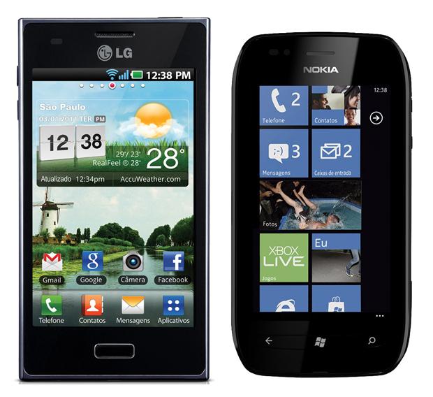 LG Optimus L5 e Nokia Lumia 720: os mais baratos (Foto: Divulgação)