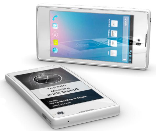 O YotaPhone terá dois displays, um LCD HD e outro de E-ink (Foto: Divulgação/Yota) (Foto: O YotaPhone terá dois displays, um LCD HD e outro de E-ink (Foto: Divulgação/Yota))