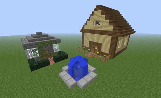 minecraft-construcao-casa-quadrada-decorada (Foto: minecraft-construcao-casa-quadrada-decorada)