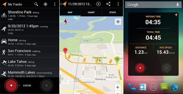 O My Tracks usa serviços Google para registrar suas corridas (Foto: Divulgação)