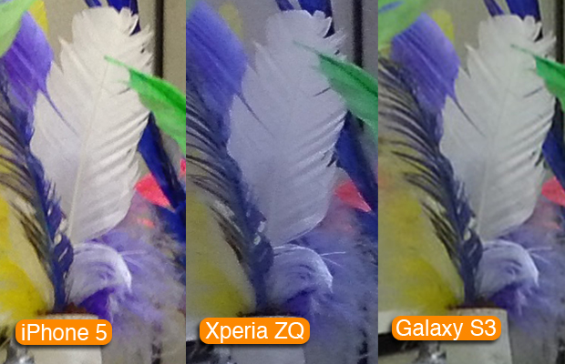 Zoom digital: comparativo do Xperia ZQ com o iPhone 5 e o Galaxy S3 (Foto: Allan Melo / TechTudo)