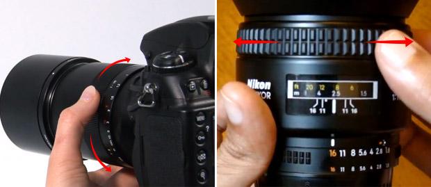 Imagens do anel de foco da lente sendo ajustado por fotógrafo (Foto: Reprodução/Carl Zeiss Lenses e PhotographersOnUTube)