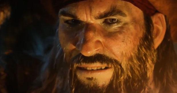 Barba Negra é um dos piratas de Assassin's Creed 4 (Foto: Reprodução)