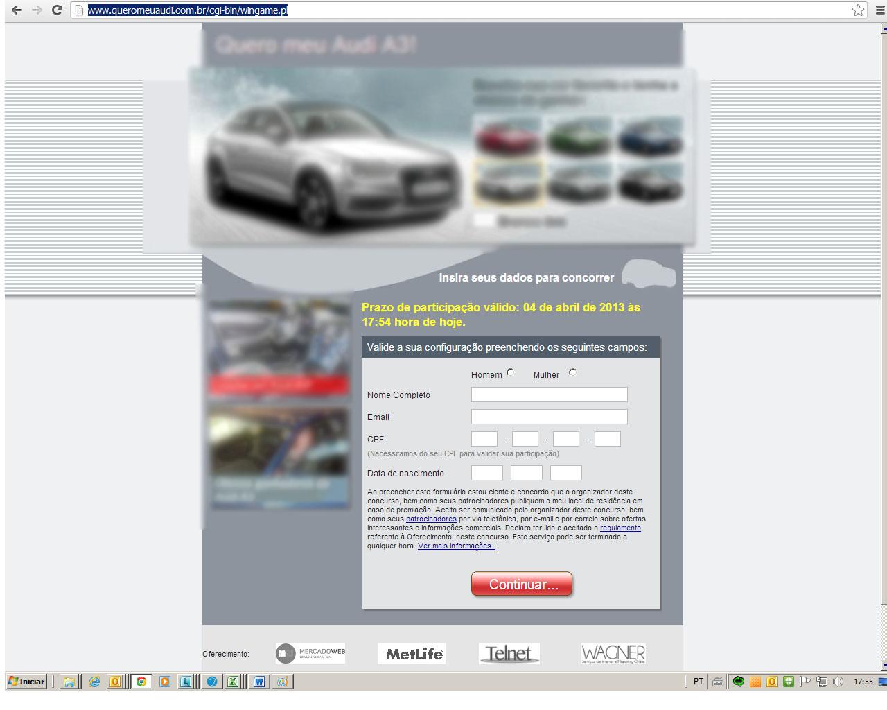universitária acessou um site fraudulentos direcionada por link do novo vírus (Foto: Reprodução/TechTudo)