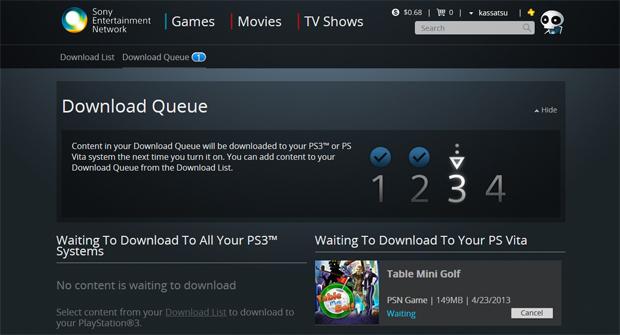 PS3 ganha função de programar downloads (Foto: Reprodução/PSN Stores)