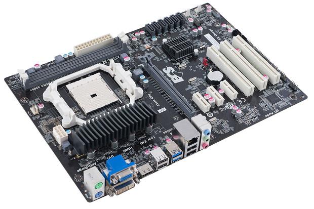 Placa-mãe da ECS suporta as APUs FM2 da AMD e tem bons recursos (Foto: Divulgação)