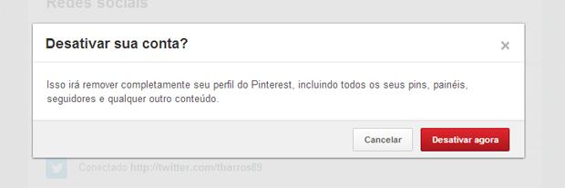 Última tela para desativar de vez um perfil do Pinterest (Foto: Reprodução/Thiago Barros) (Foto: Última tela para desativar de vez um perfil do Pinterest (Foto: Reprodução/Thiago Barros))