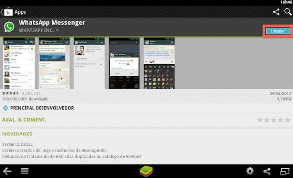 Página do WhatsApp no Google Play (Foto: Reprodução/Helito Bijora)