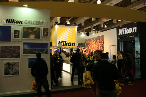 Estande da Nikon no PhotoImage Brazil (Foto: TechTudo/Renato Bazan)