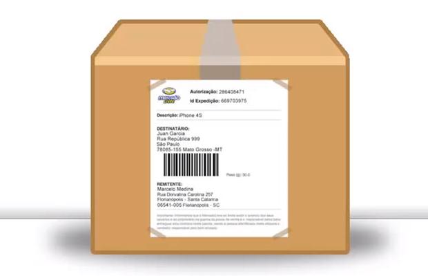 Agora basta colar a etiqueta na embalagem e enviar o produto (Foto: Reprodução)