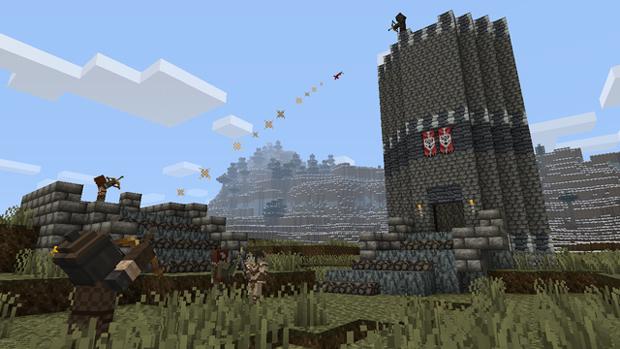 Encarne mais uma vez o Dovahkiin, dessa vez em Minecraft (Foto: Kotaku)