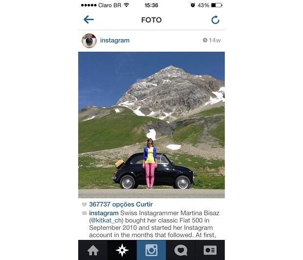 Fotos com fundos bem destacados no Instagram (Foto: Reprodução/Instagram)