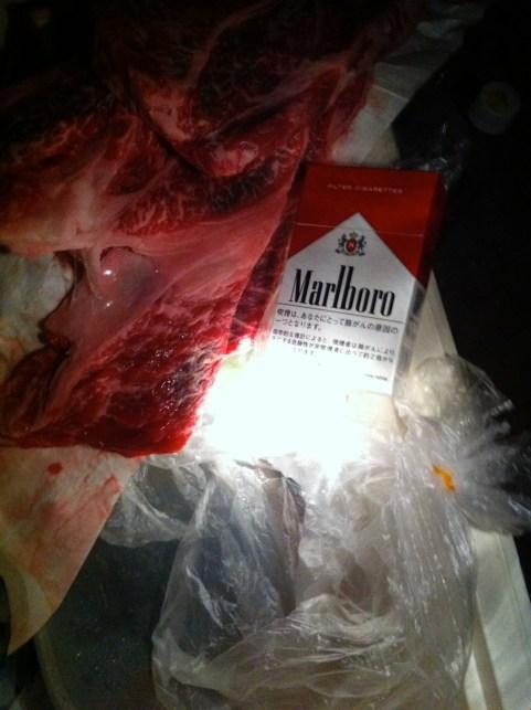 月形さんが用意してくれた肉