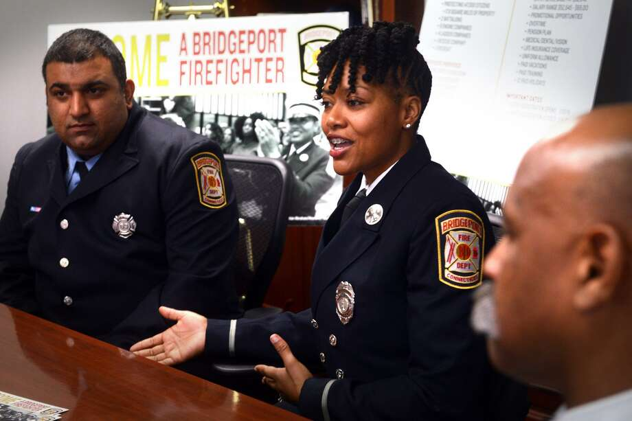 Lt. Necole Dundy-Pittman of the Fire Department of Bridgeport during an interview in Bridgeport, Conn. February 7, 2019. She talked about the current recruitment efforts of the department. Photo: Ned Gerard / Hearst Connecticut Media / Connecticut Post