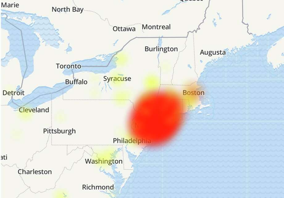 Optimum customers report widespread outages