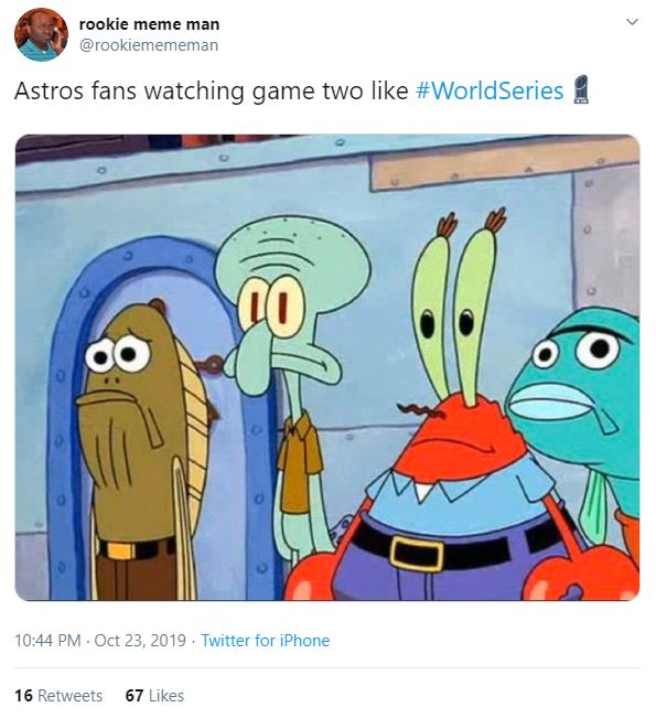 Astros Shredded By Memes After World Series Blowout By Nationals