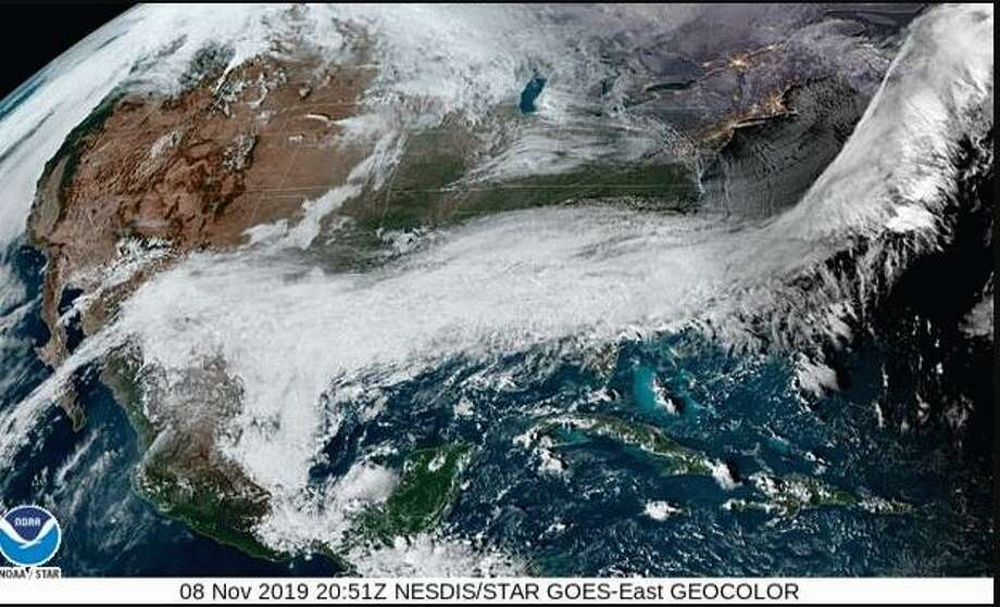 The National Weather Service is predicting that about 250 cold records will be established as a result of this mid-November polar plunge. Photo: NWS