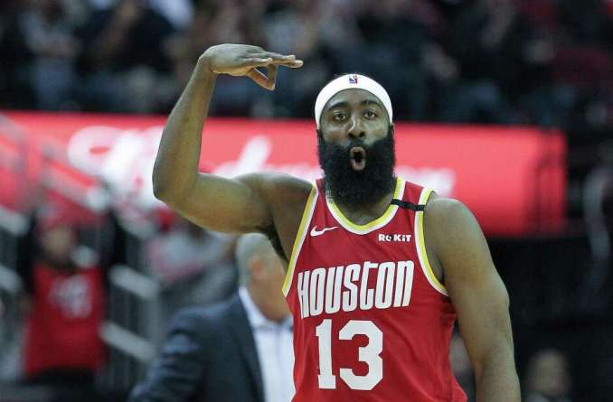 James Harden, after making a 3-pointer against the 76ers on Friday, is finding a way to beat whatever defenses teams throw at him.