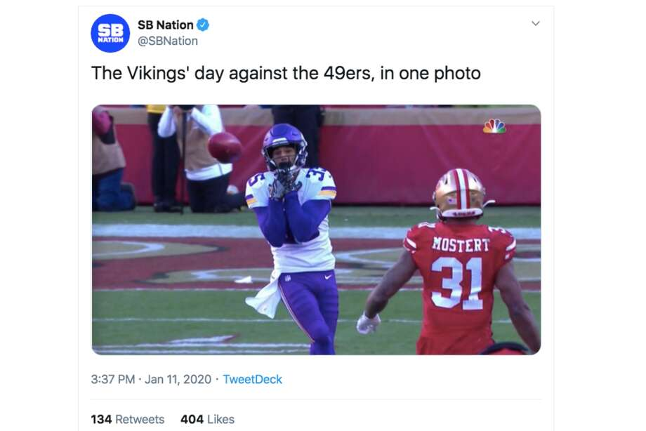 49ers Dominant Win Over Vikings Gets Meme D By Nfl Fans Sfgate