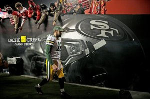 For Packers' Aaron Rodgers, NFC title game brings too-familiar result