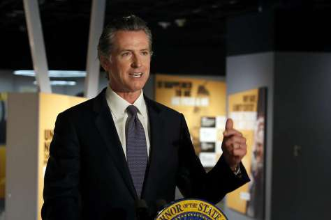 Gov. Gavin Newsom at a news conference in Sacramento on June 5.