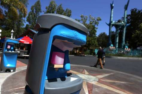 FILE: Hand washing stations are posted for guests at Six Flags Discovery Kingdom on July 2, 2020 in Vallejo, which is located in Solano County. Photo: Justin Sullivan/Getty Images / 2020 Getty Images