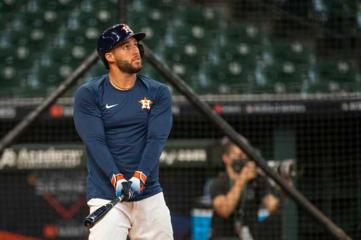 George Springer misses workout because of COVID-19 test issues ...