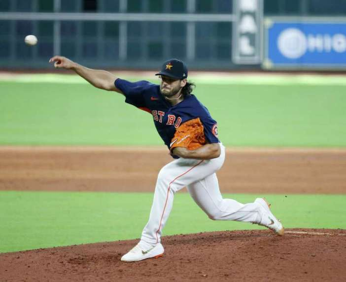 Astros pitcher Lance McCullers Jr. threw five shutout innings in Tuesday's intrasquad game at Minute Maid Park. He's slated to start Monday's exhibition game at Kansas City.