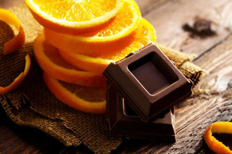 Orange combined with dark chocolate and yogurt creates a sweet dessert. Photo: For The Telegraph