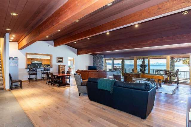 This lakefront property in Lake Tahoe sold last month for $22 million, the highest-priced sale in Incline Village so far this year. The 5,163-square foot property has four bedrooms and seven bathrooms, and has a much-sought-after private pier along a sandy beach.