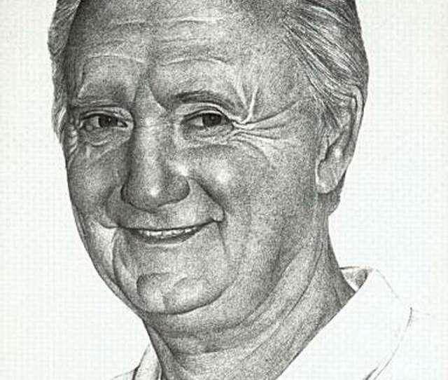Monterey Herald Cartoonist Bill Bates Self Portait Bates A Two Time