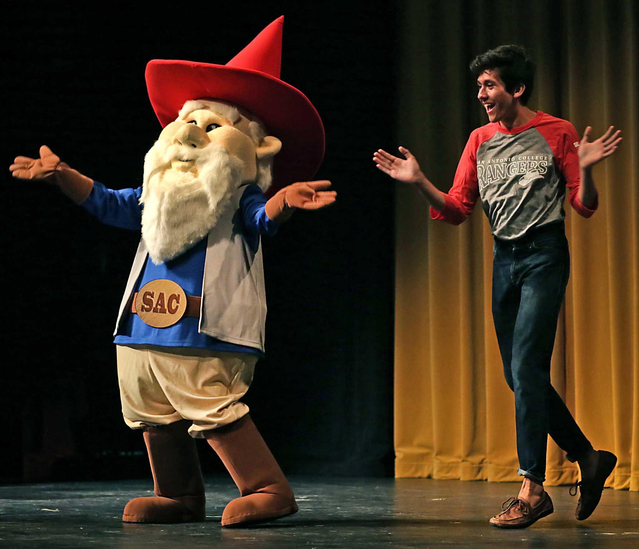 San Antonio College Gnome Ranger Mascot Infiltrates Campus