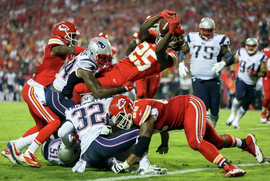 Image result for jamaal charles against patriots
