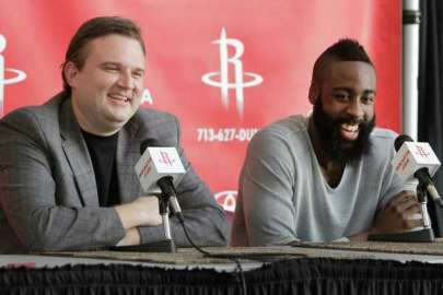 The trade: When call finally came, Harden was a Rocket - HoustonChronicle.com