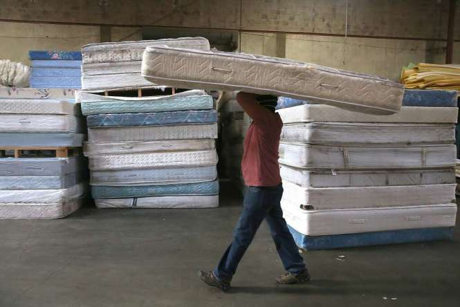Mattresses Seen At Oakland S Dr3 Mattress Recycling Center In California On Friday