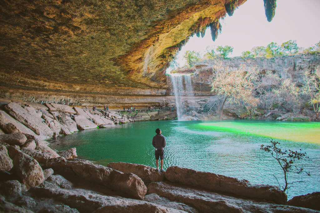 These are the 20 best places to visit in Texas   Midland Reporter     Hamilton PoolDripping Spring  Texas The water can be as cold as 50 degrees  in some