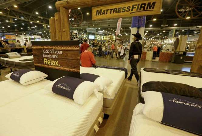 The Mattress Firm Display In Nrg Center During Houston Livestock Show And Rodeo On Thursday