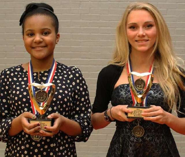 Scholarship Winners From The Alvin Isd Science Fair Are From Left Chloe Cambridge From Nolan