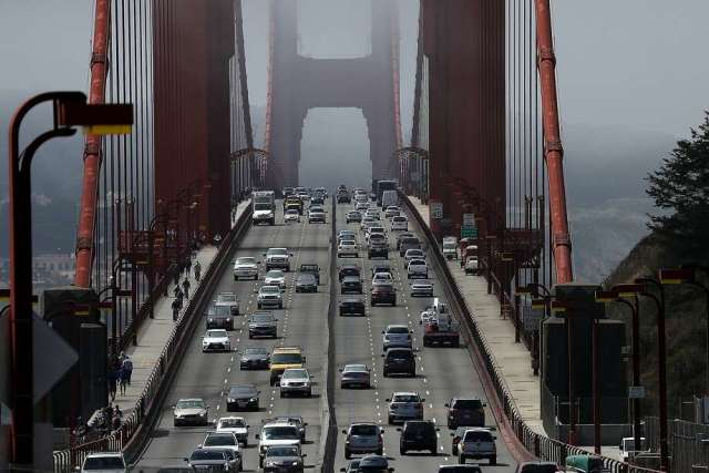 Seven people needed hospitalization after a car crash near the Golden Gate Bridge. Photo: Justin Sullivan, Getty Images