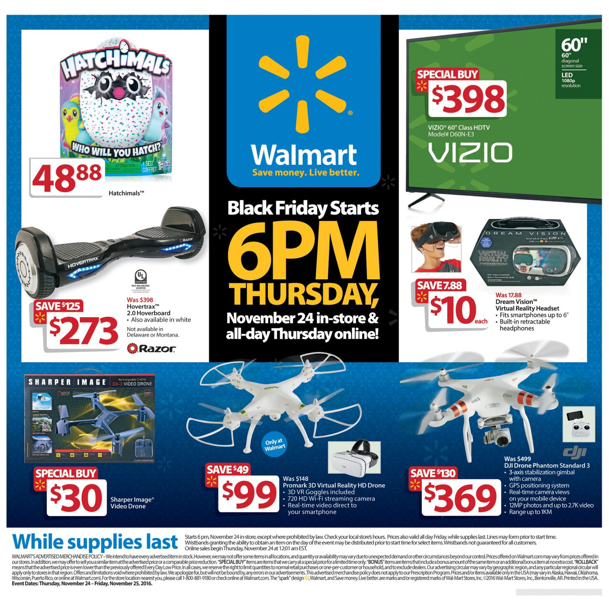 Walmarts Black Friday 2016 Doorbuster Ad Circular